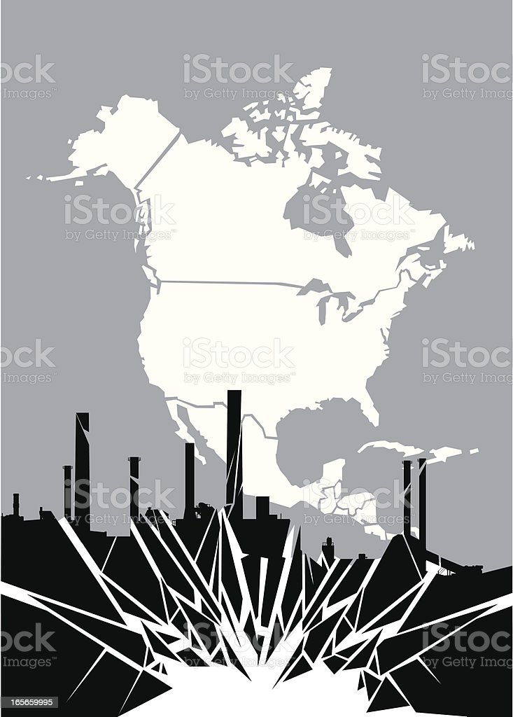Industry Shattered royalty-free stock vector art