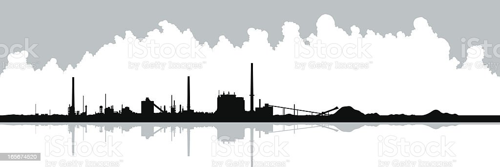 Industry Silhouette royalty-free stock vector art