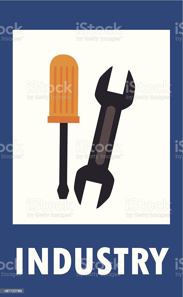 industry tools royalty-free stock vector art