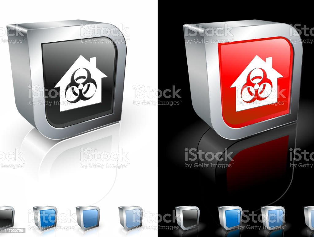 infected house 3D icon royalty-free stock vector art