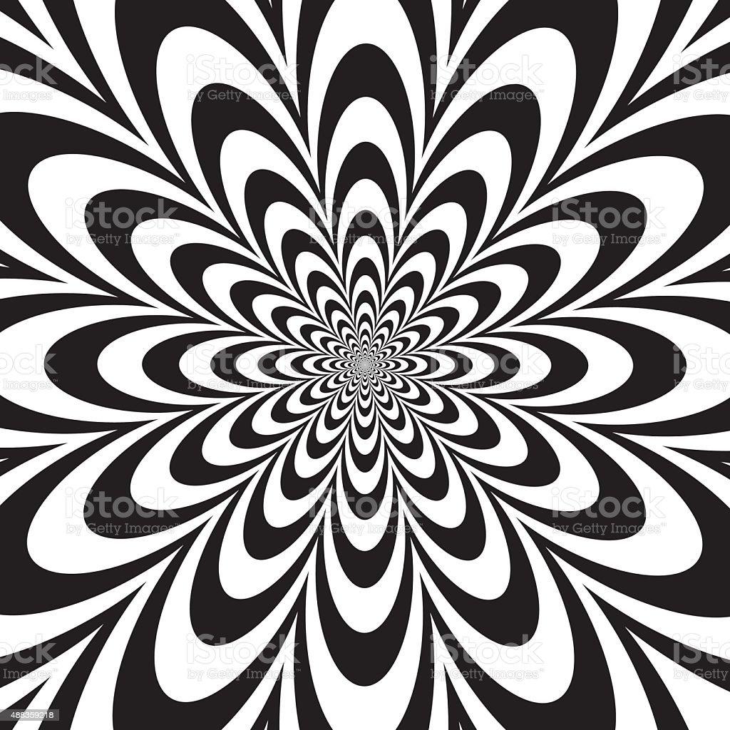 Infinite Flower in Black and White vector art illustration
