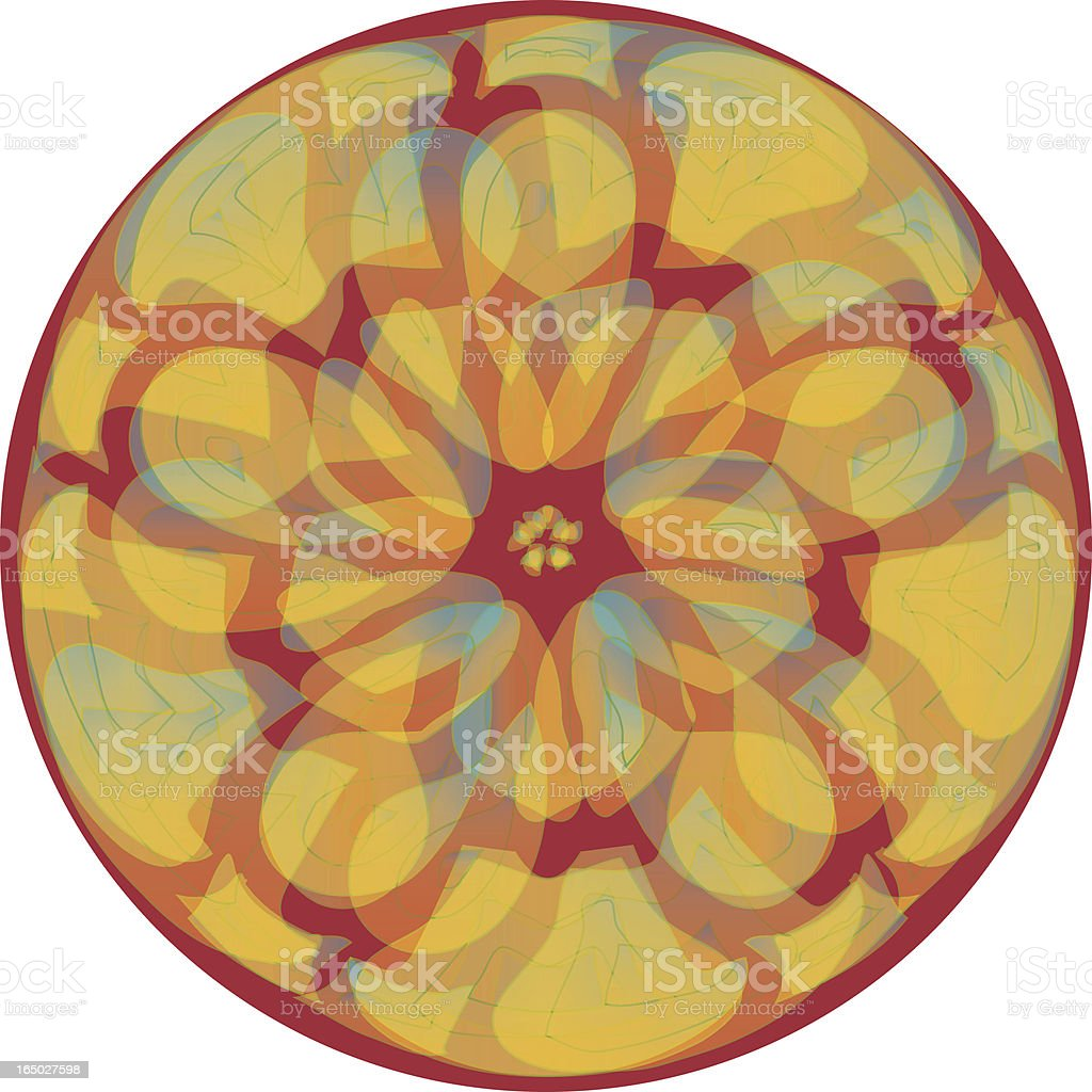 Infinite Lotus vector art illustration