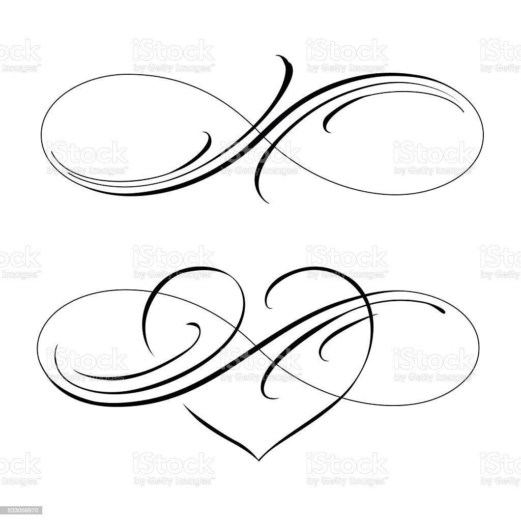 infinite love vector art illustration