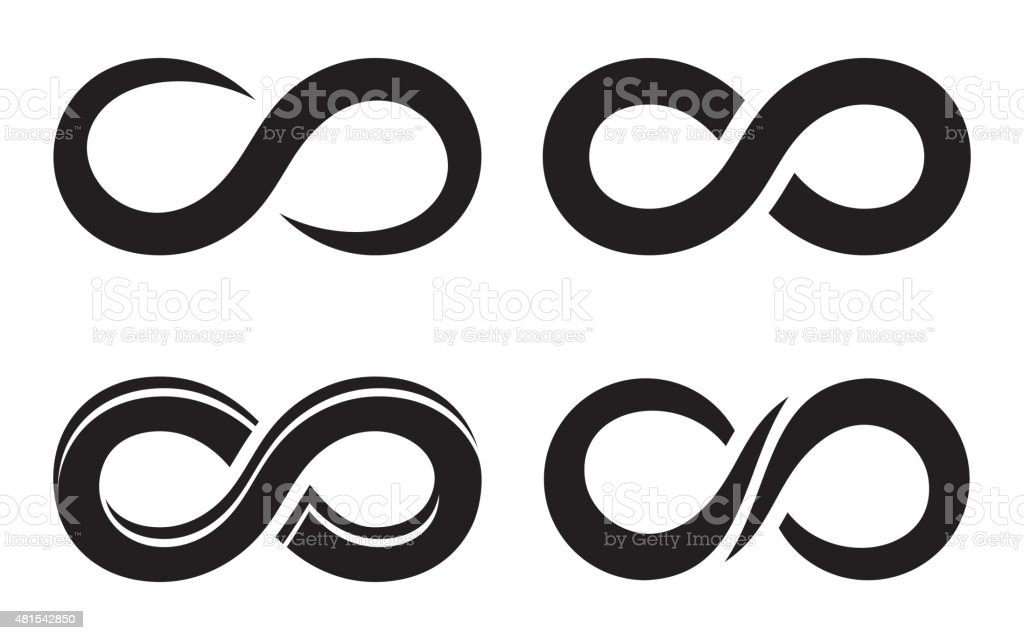 Infinity icons vector art illustration