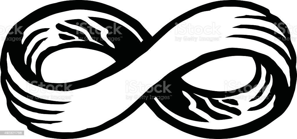 Single Line Symbol Art : Infinity loop symbol stock vector art istock
