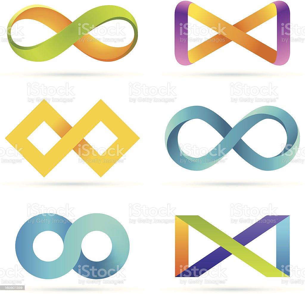 Infinity set royalty-free stock vector art