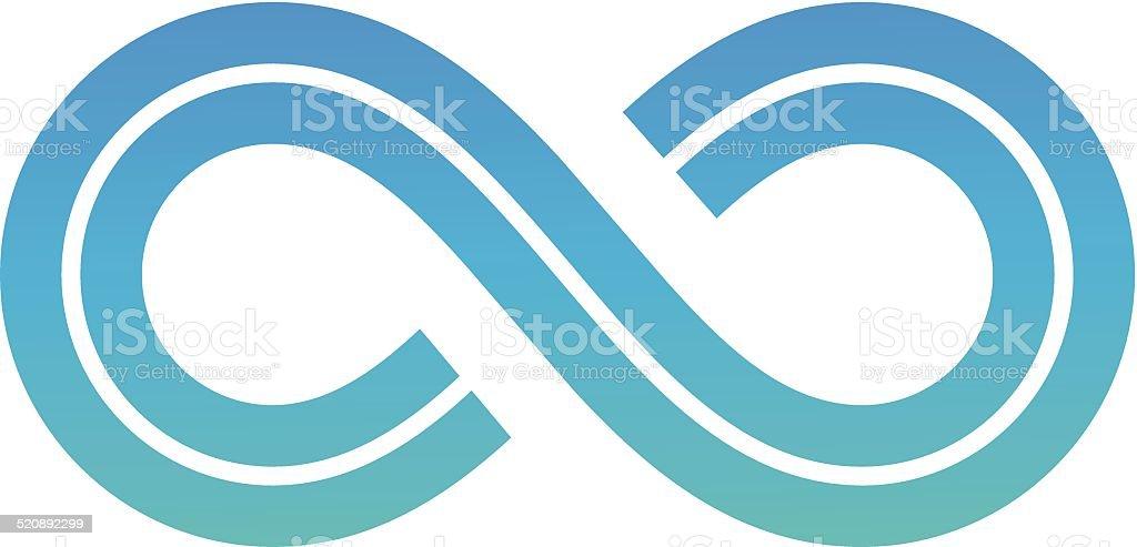 Symbole infini Design stock vecteur libres de droits libre de droits