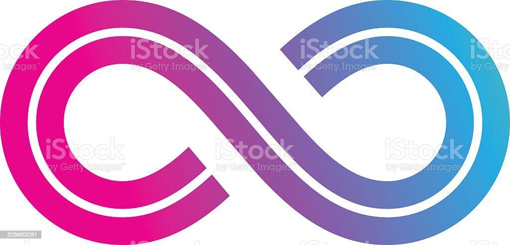 Infinity Symbol Design vector art illustration