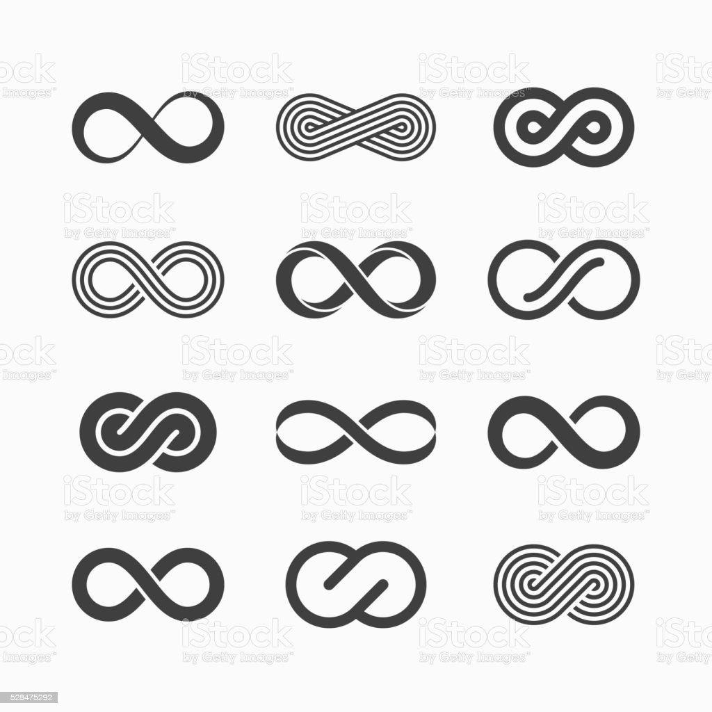 Infinity symbol icons vector art illustration