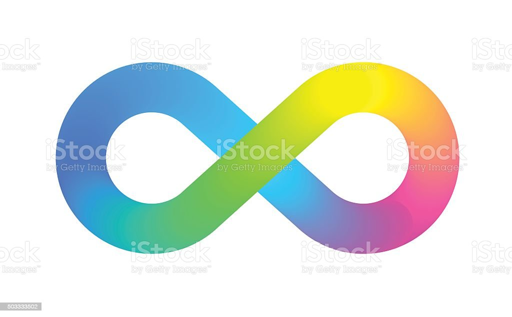 Infinity Symbol Logo vector art illustration