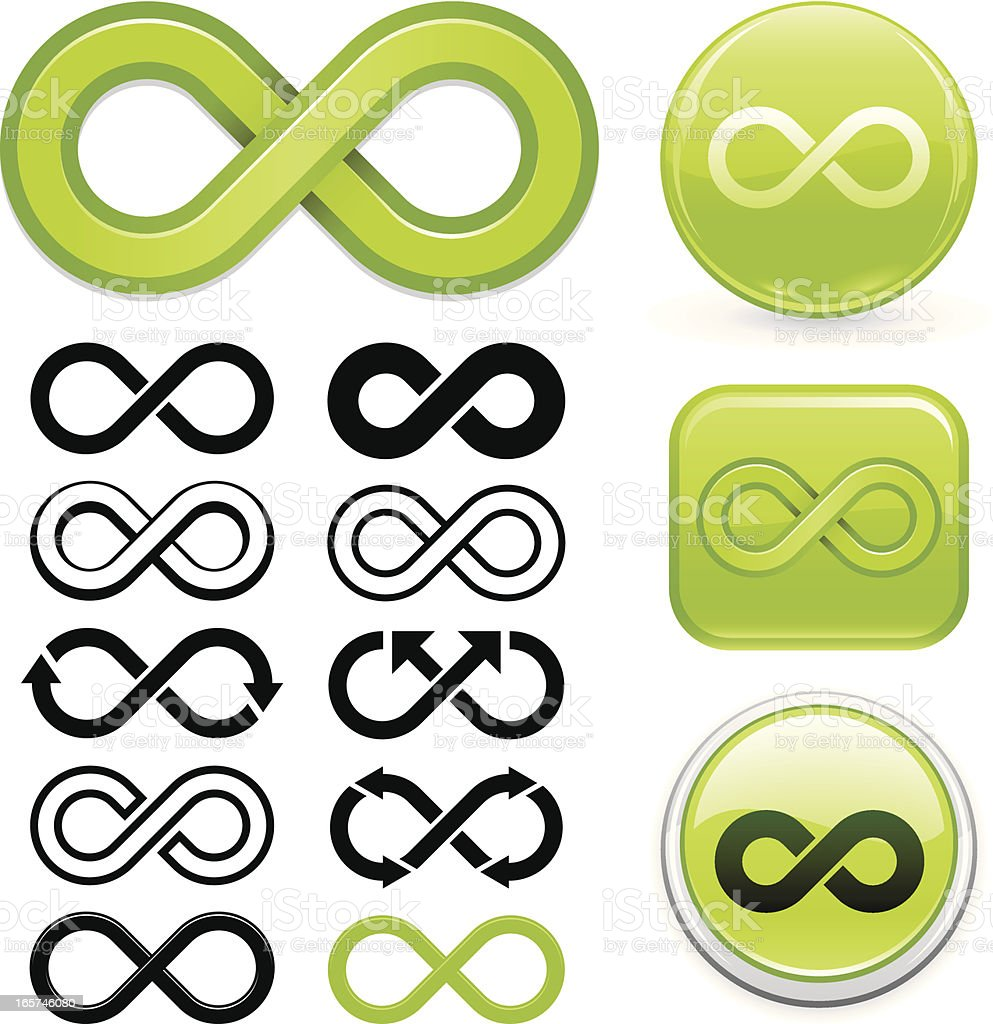 Infinity symbol vector art illustration