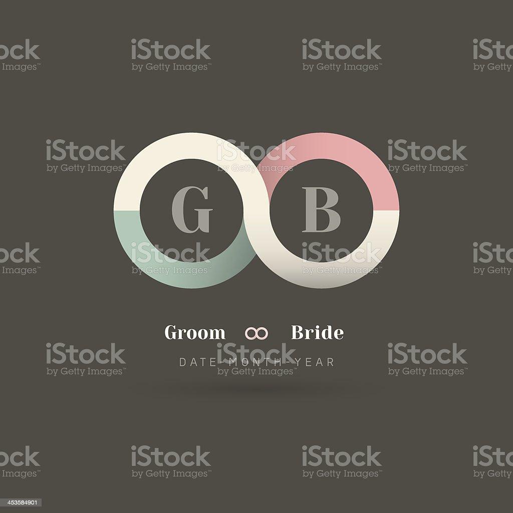 Infinity Symbol Wedding Invitation royalty-free stock vector art