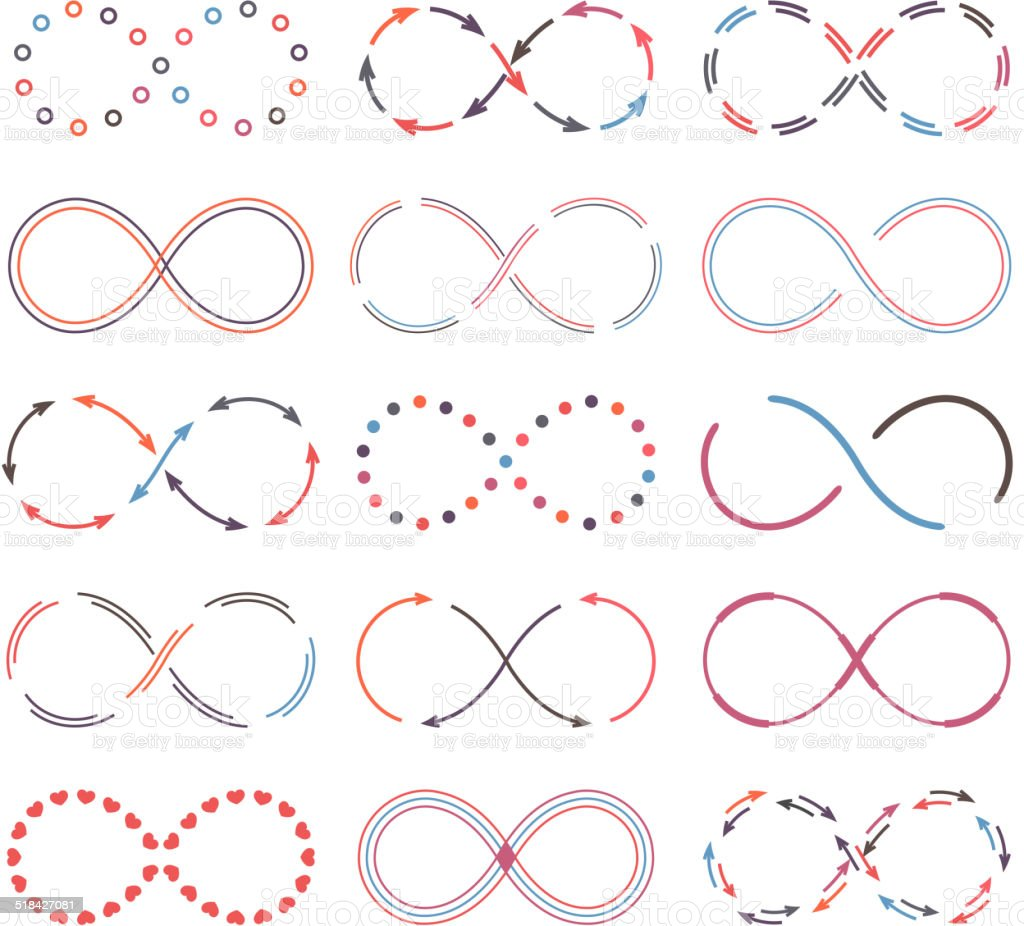 Infinity Symbols vector art illustration