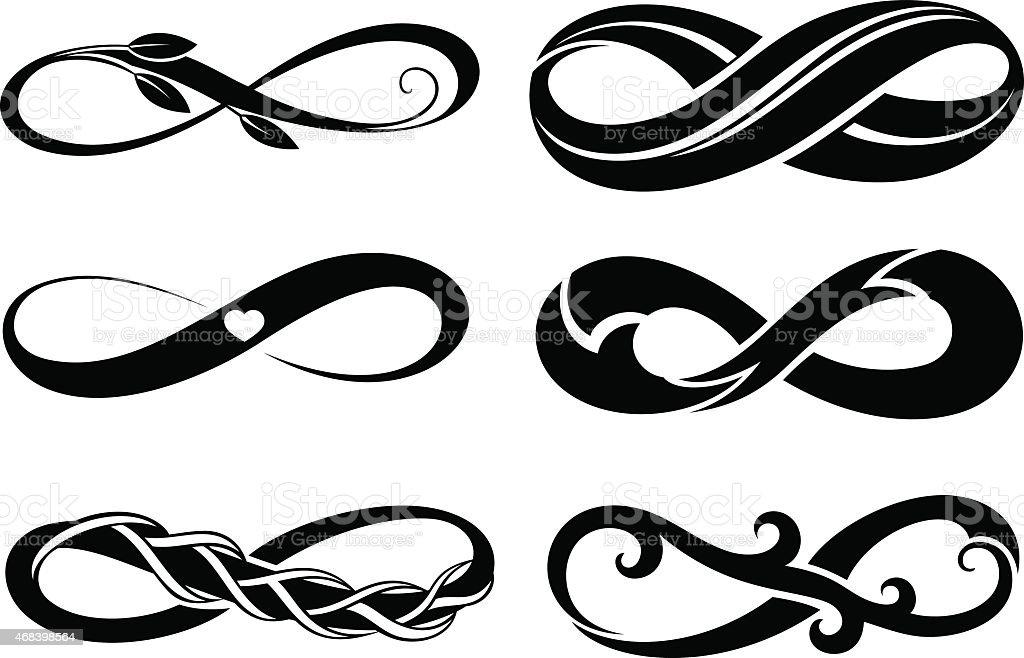 Infinitytattoo Symbols Stock Vector Art 468398564 Istock