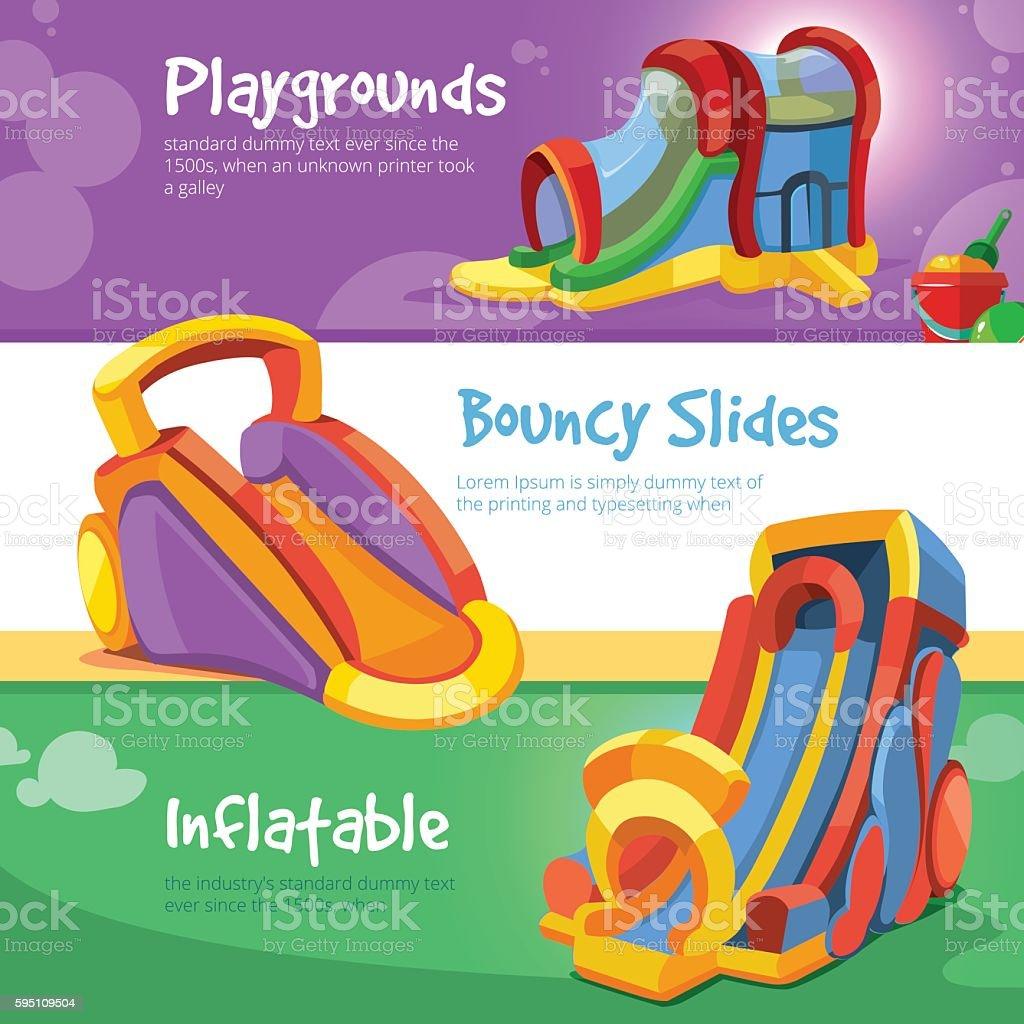 colchonetas inflables castillos y colinas de en el patio de juegos para nios libre de