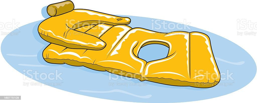 Inflatable Pool Chair vector art illustration