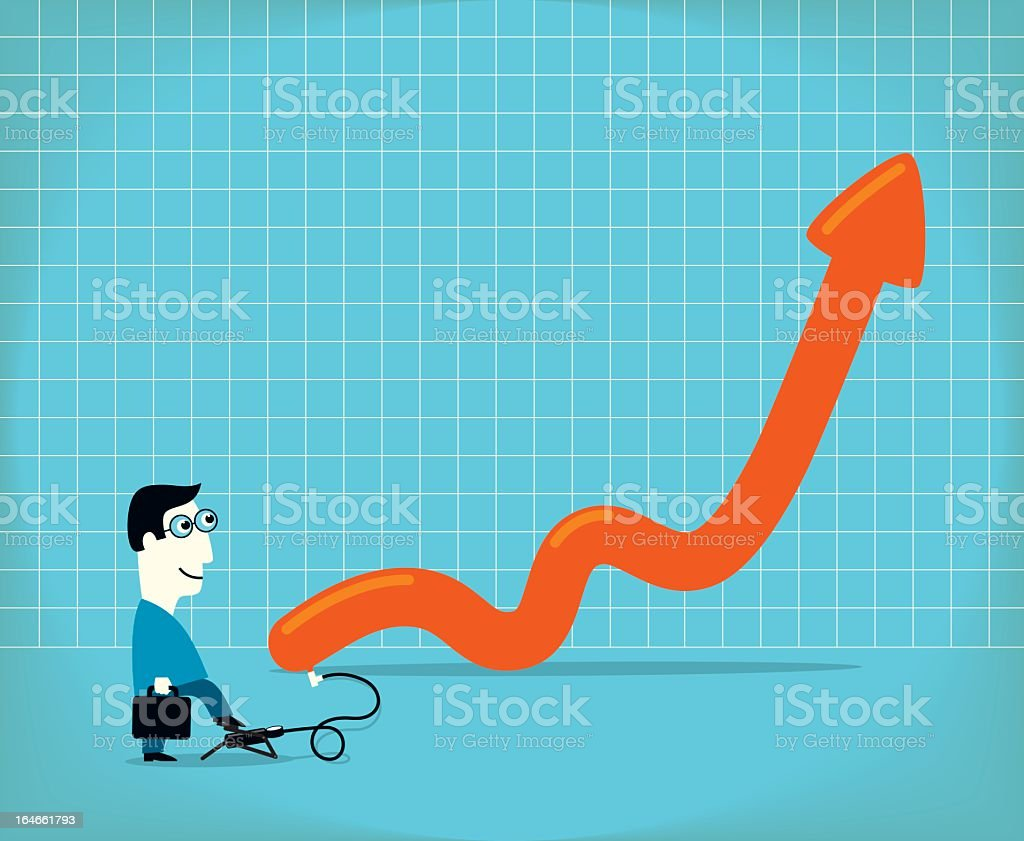 Inflation royalty-free stock vector art