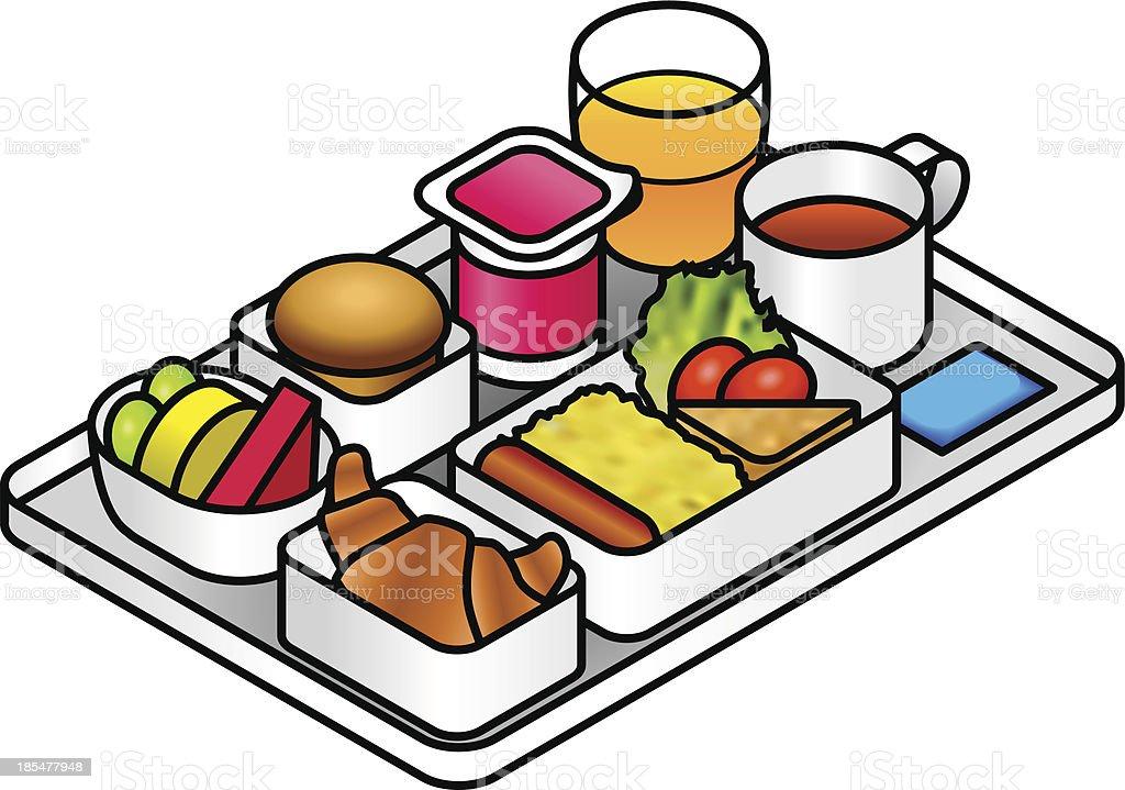 Inflight Meal vector art illustration