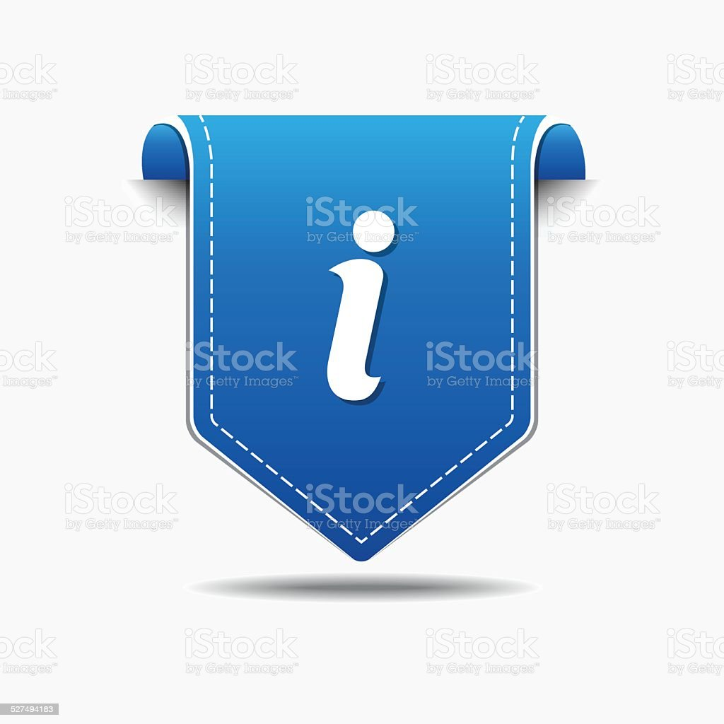 Info blue Vector Icon Design vector art illustration