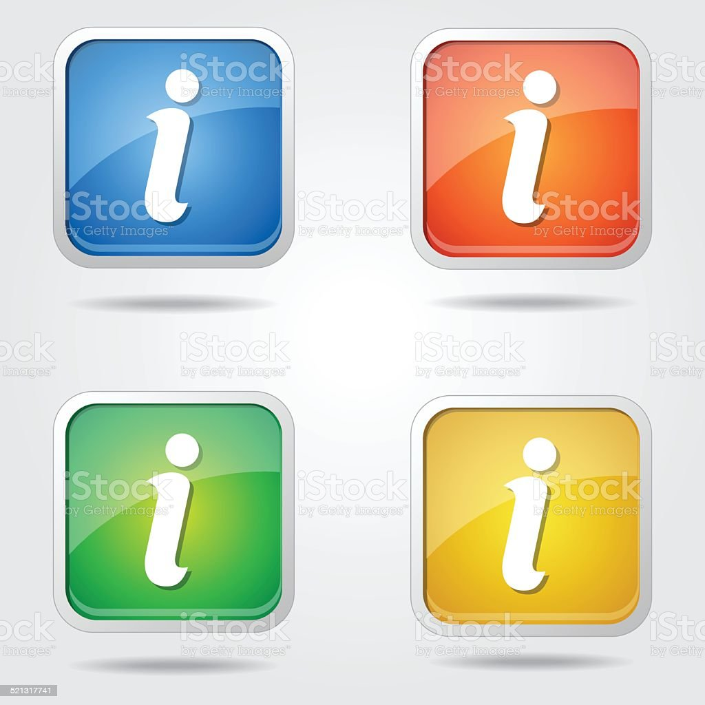 Info Colorful Vector Icon Design vector art illustration