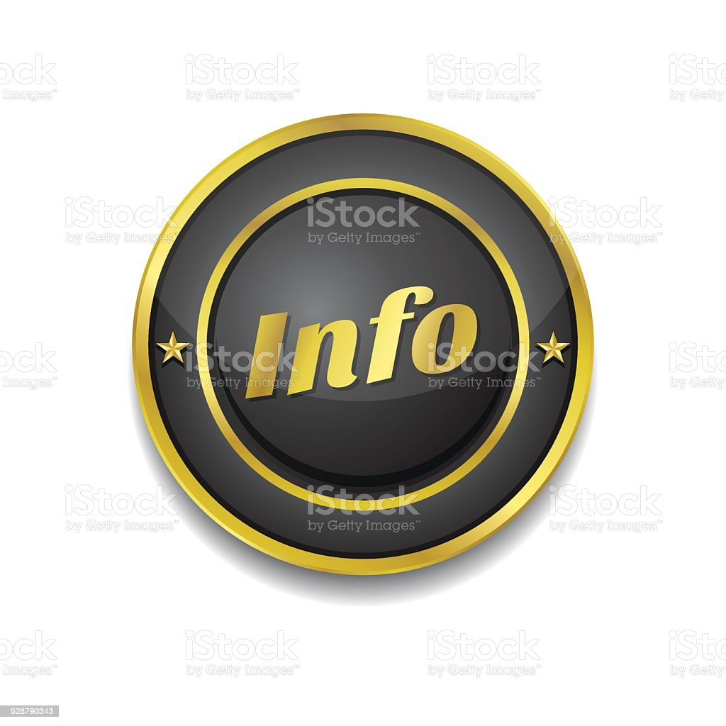 Info Gold Vector Icon Button vector art illustration