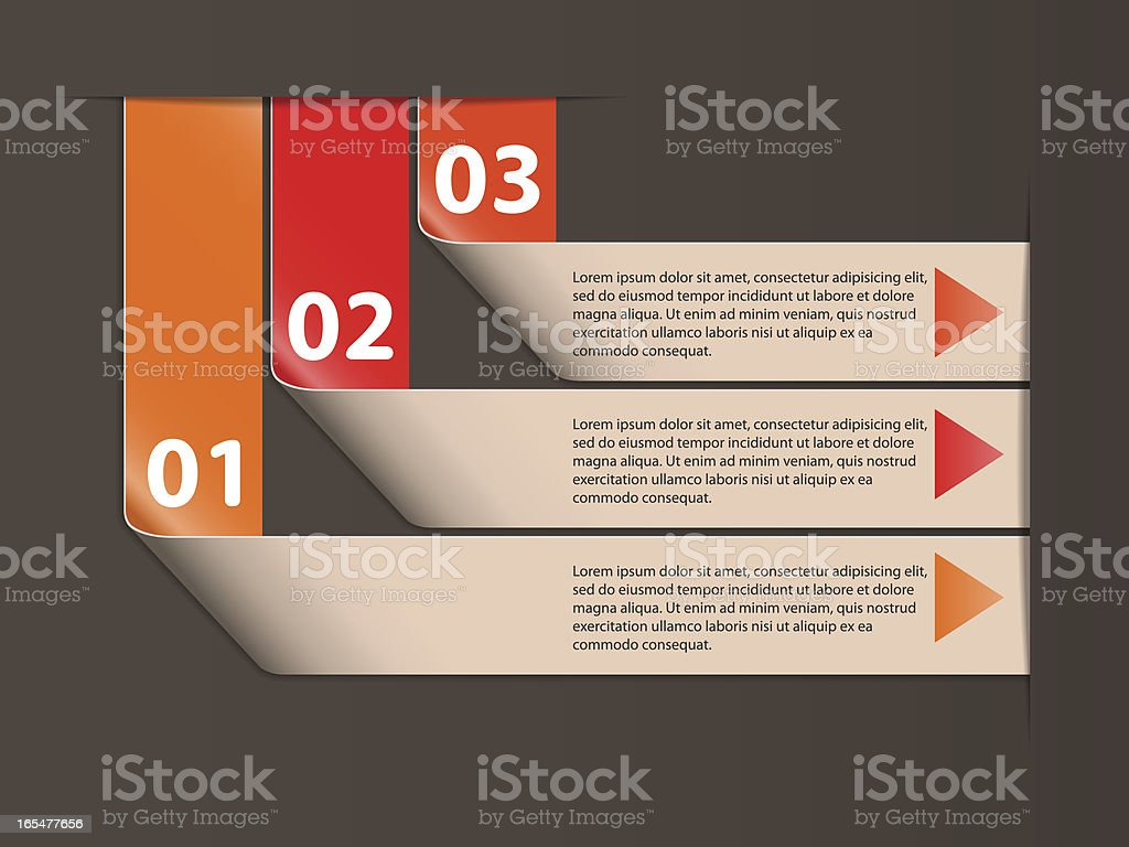 Info graphic options banner. royalty-free stock vector art