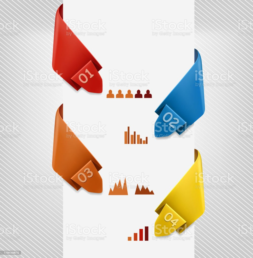 Info graphics banner with numbers. Modern design template. royalty-free stock vector art