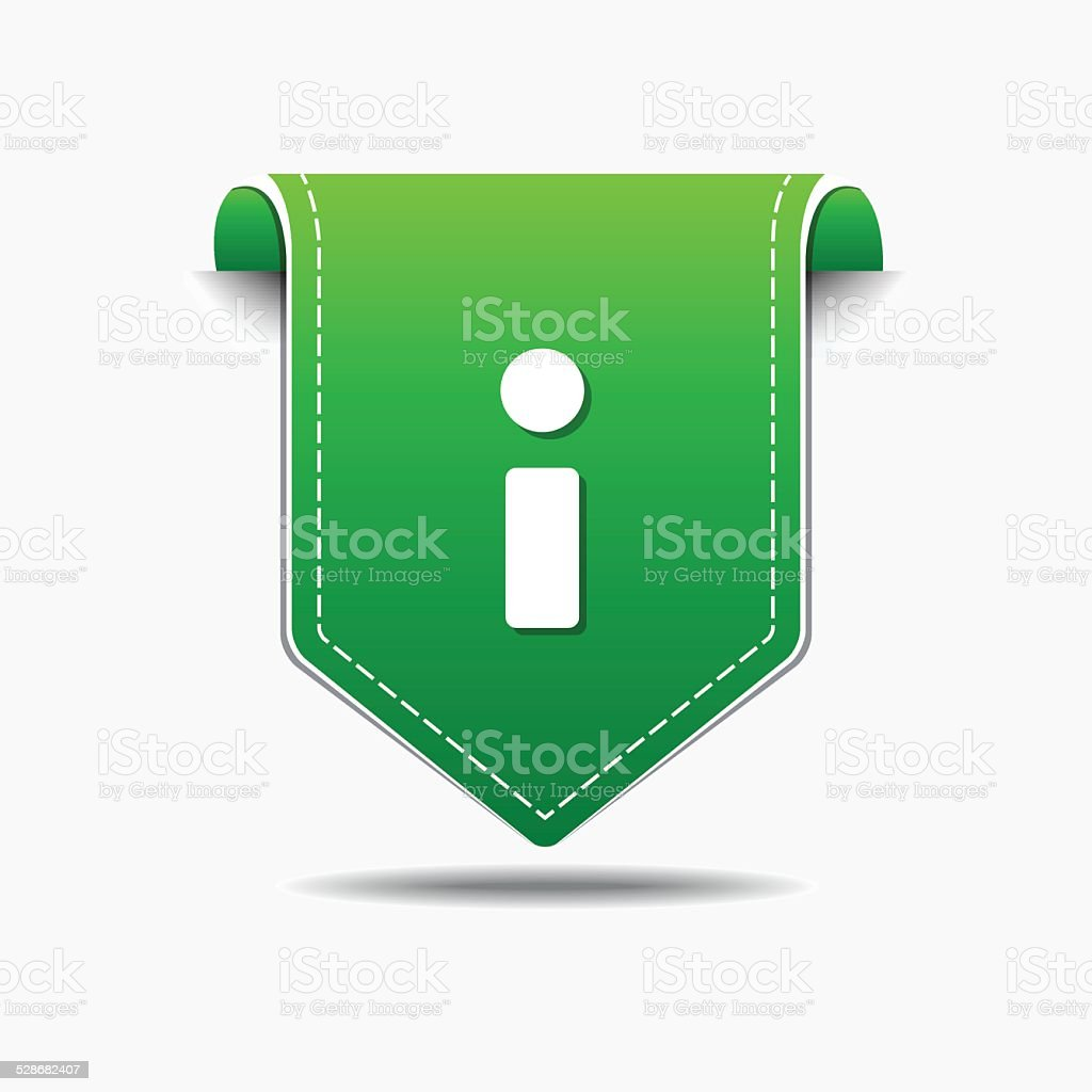 Info Green Vector Icon Design vector art illustration