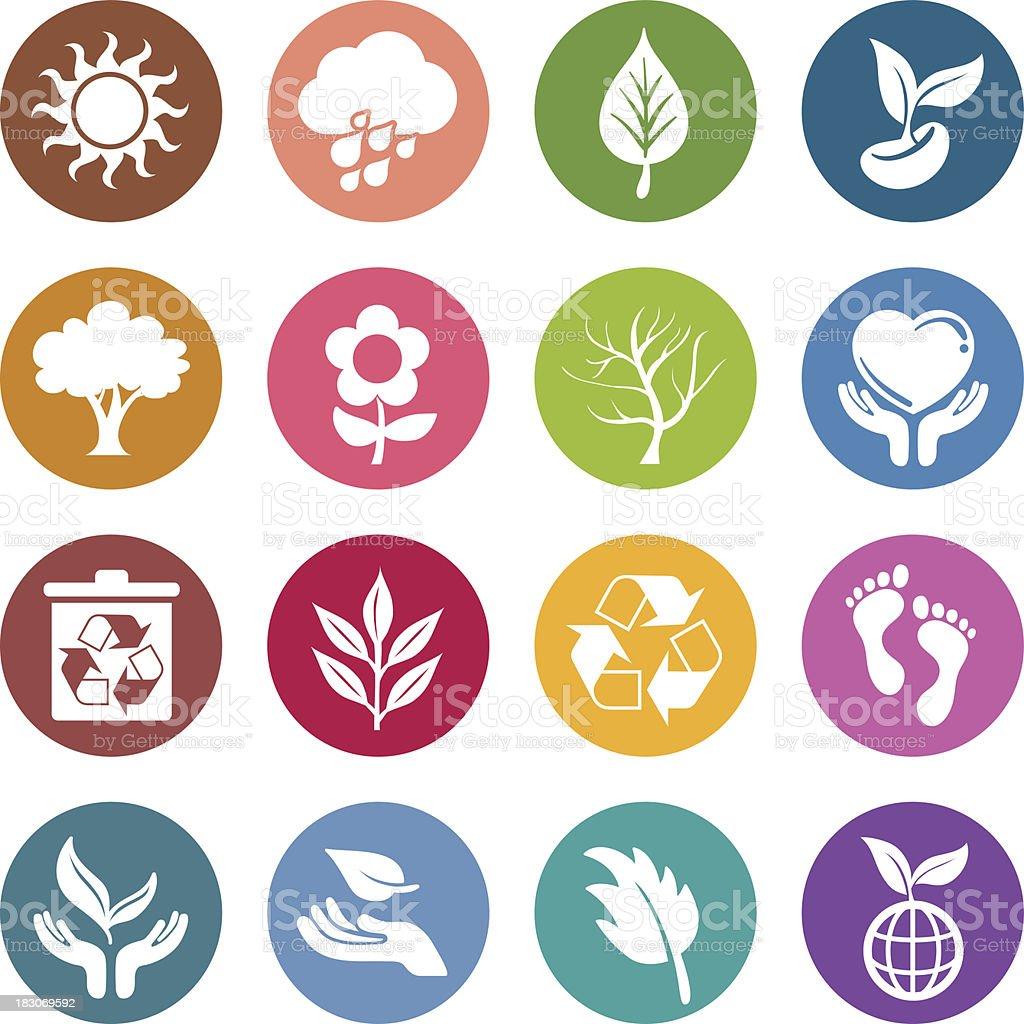 Info icon: Environment issue vector art illustration