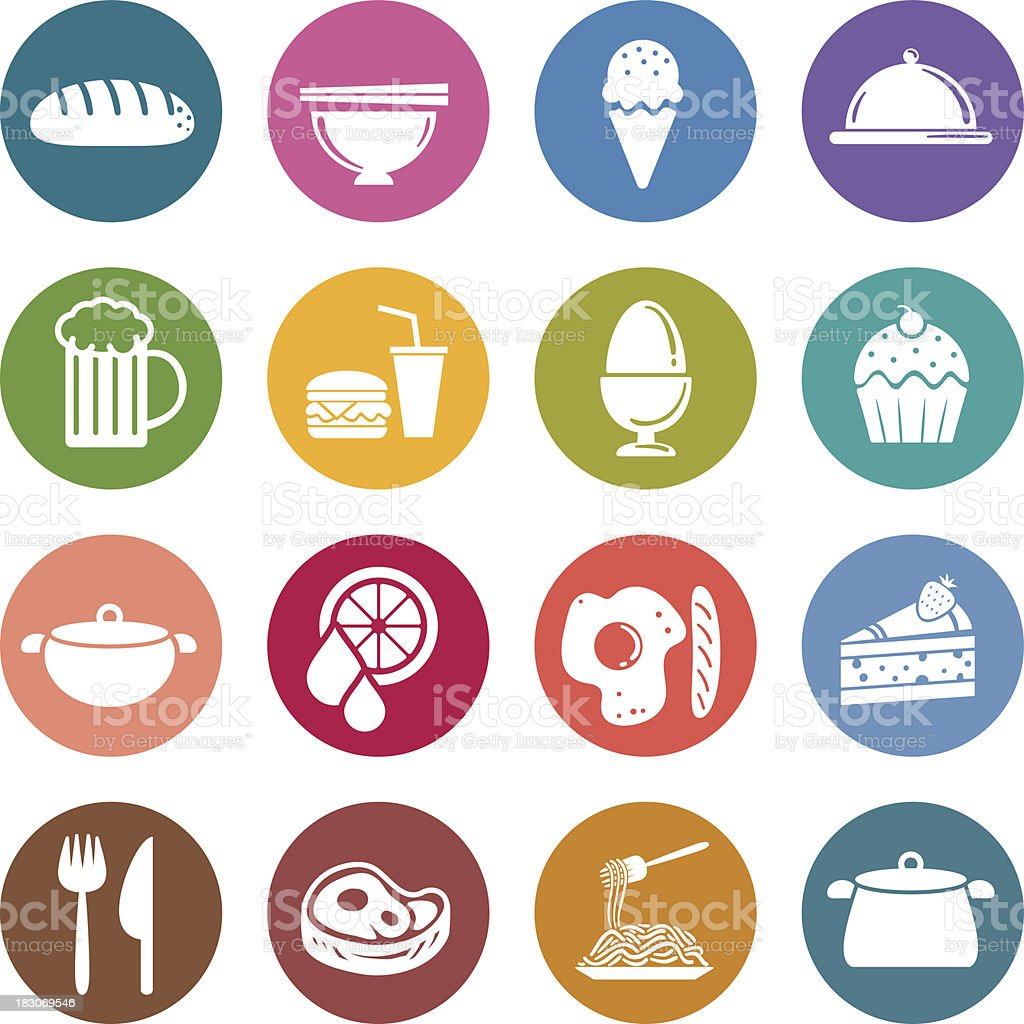 Info icon: Food and beverage vector art illustration