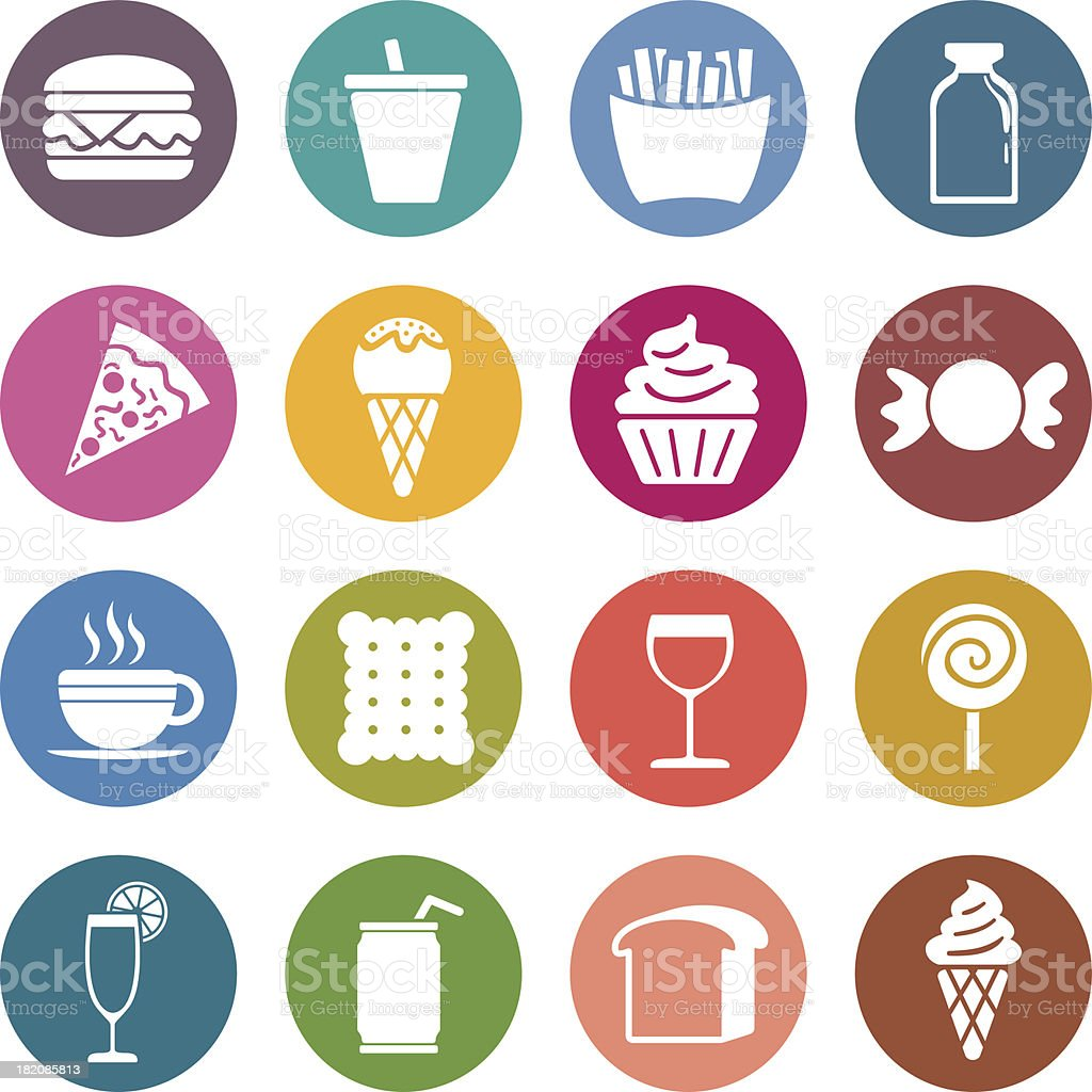 Info icon: Food and beverge vector art illustration