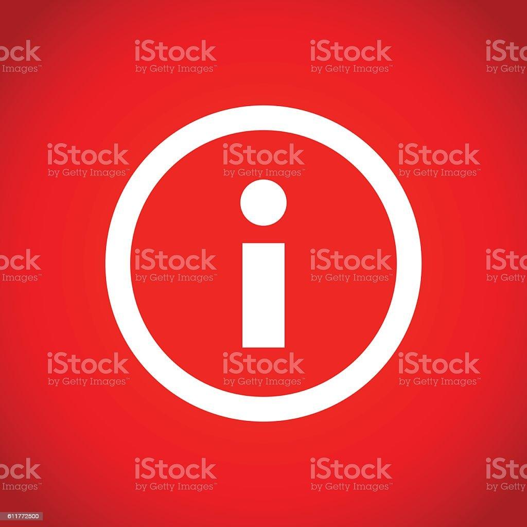 info icon stock vector illustration flat design vector art illustration