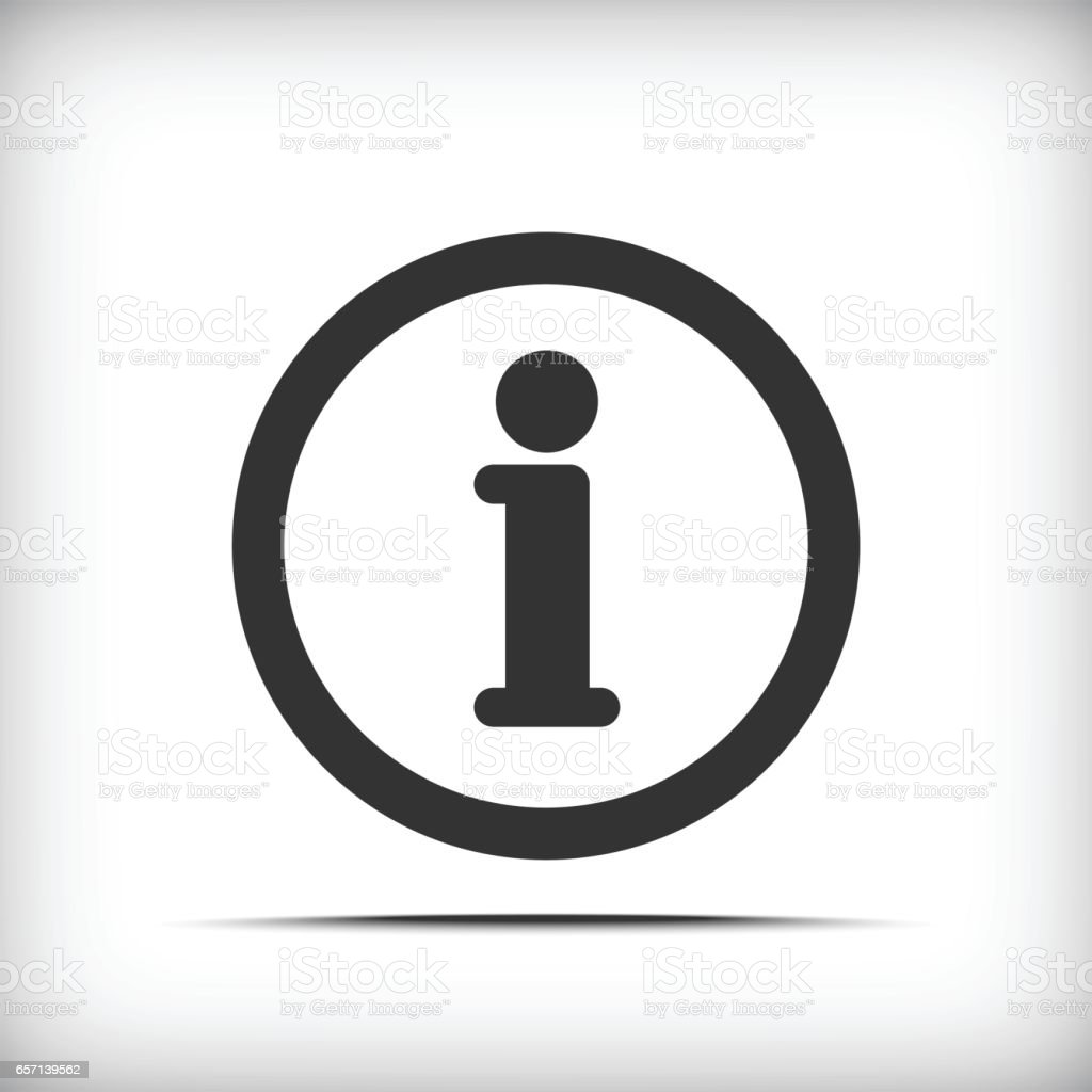 info icon - Vector vector art illustration