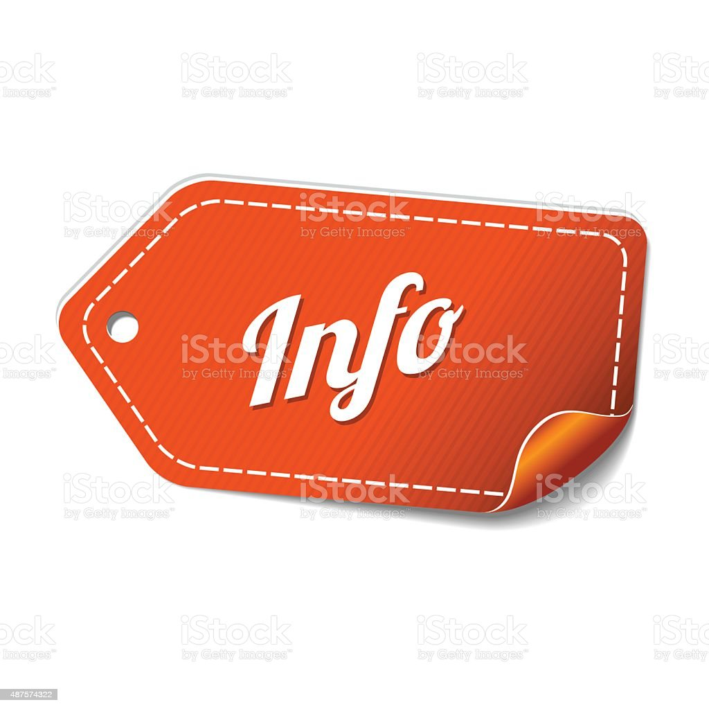 Info Orange Vector Icon Design vector art illustration
