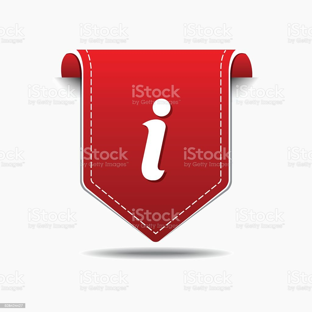 Info Red Vector Icon Design vector art illustration