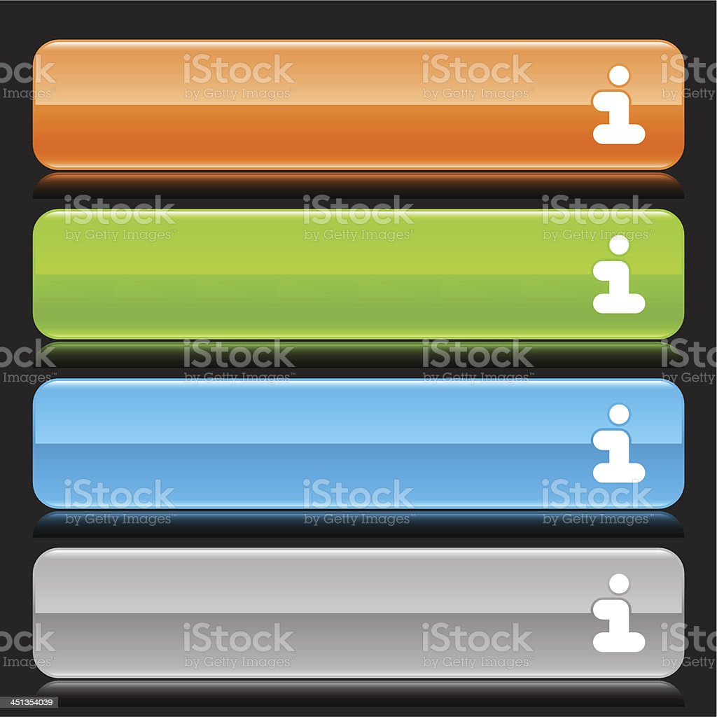 Info sign orange green blue gray button glossy icon royalty-free stock vector art