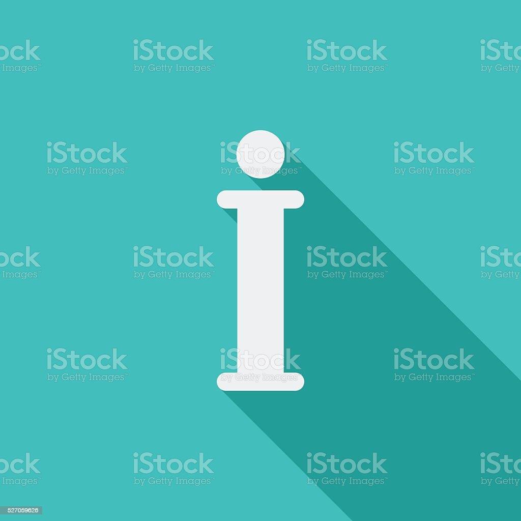 Info vector flat icon vector art illustration
