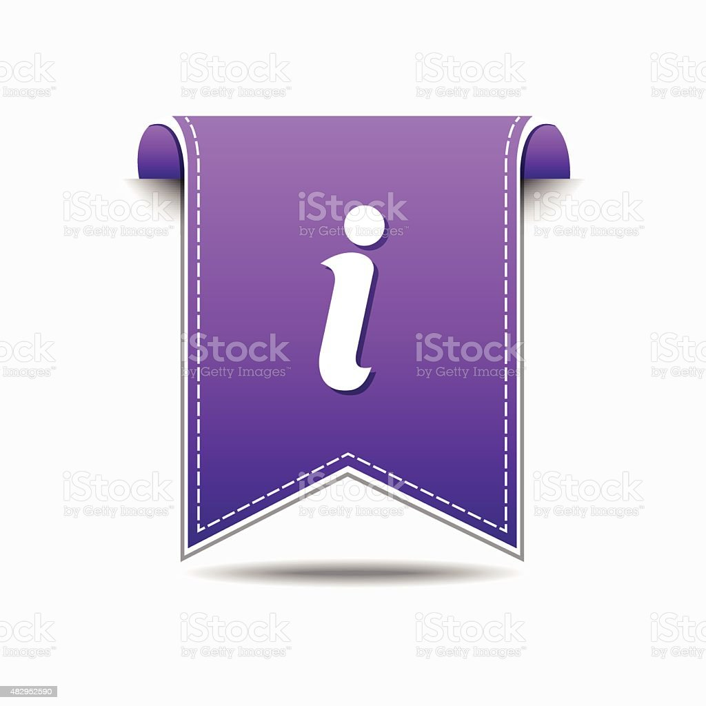 Info Violet Vector Icon Design vector art illustration