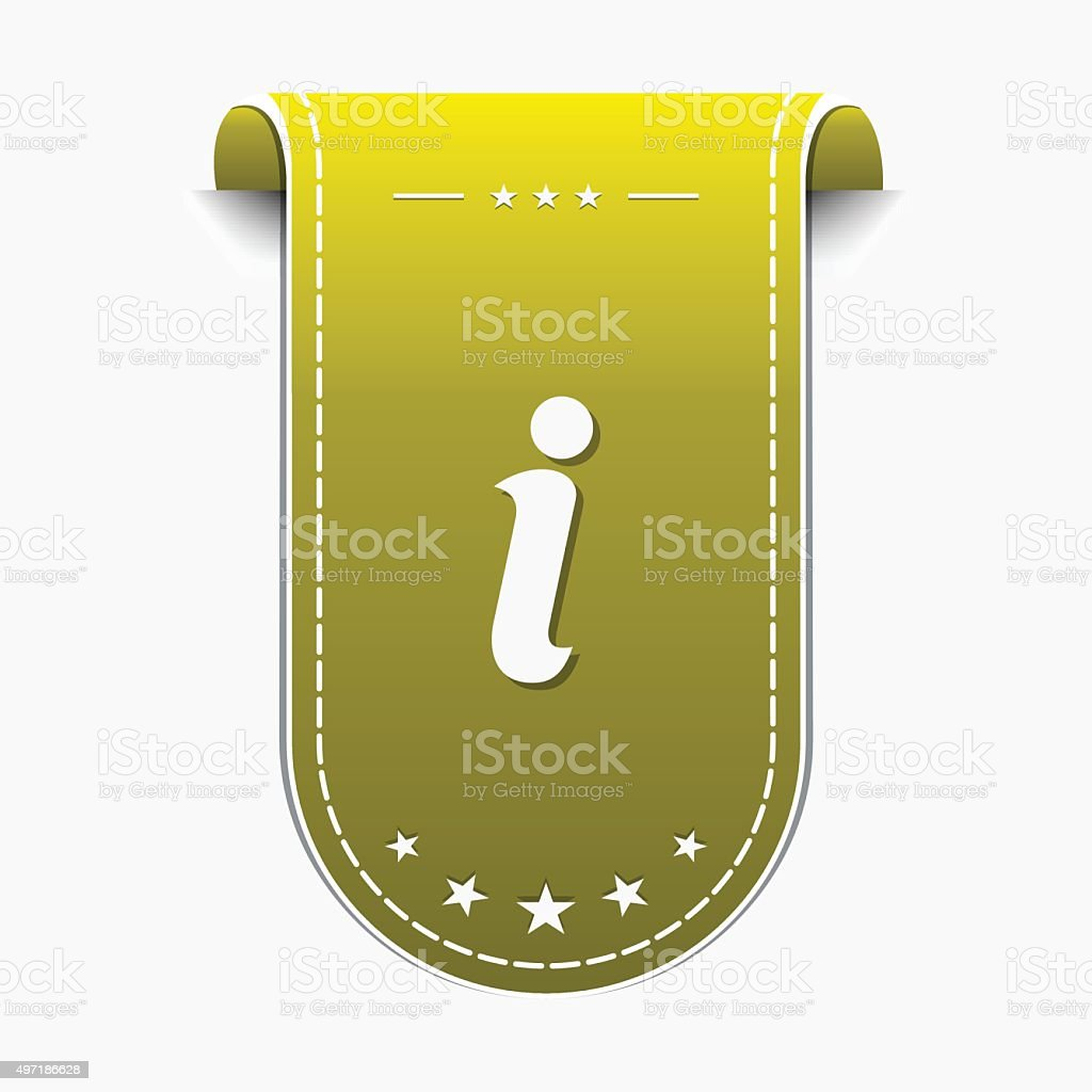 Info Yellow Vector Icon Design vector art illustration