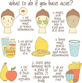 Infographic about what to do if you have acne.