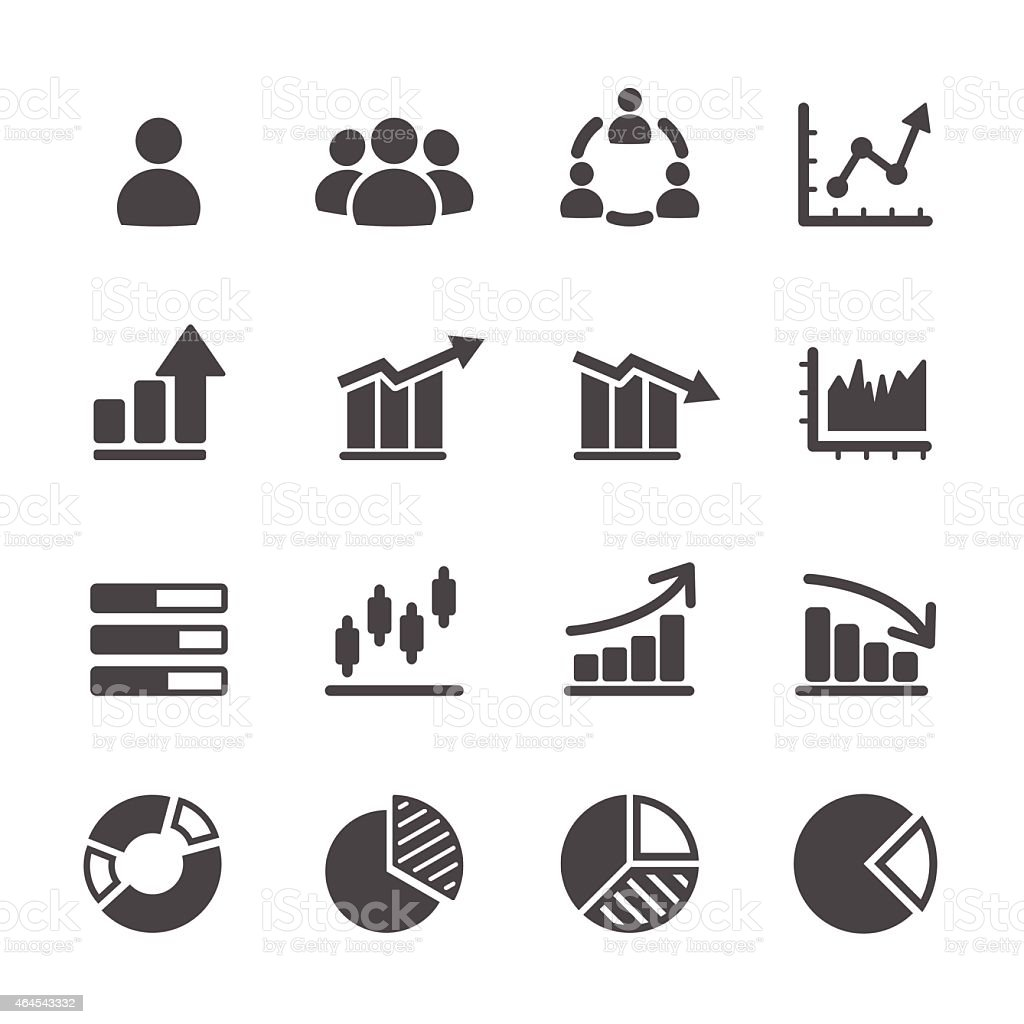 infographic and chart icon set, vector eps10 vector art illustration