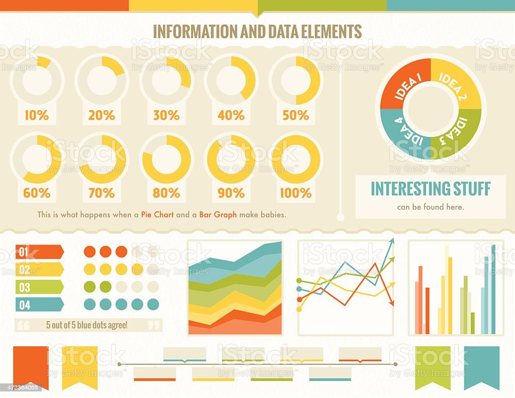 Infographic and Data Elements vector art illustration