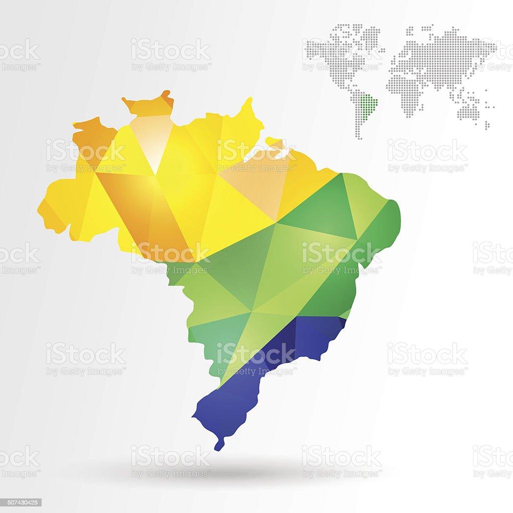 Infographic Brazil Map Stock Vector Art IStock - Brazil map illustration
