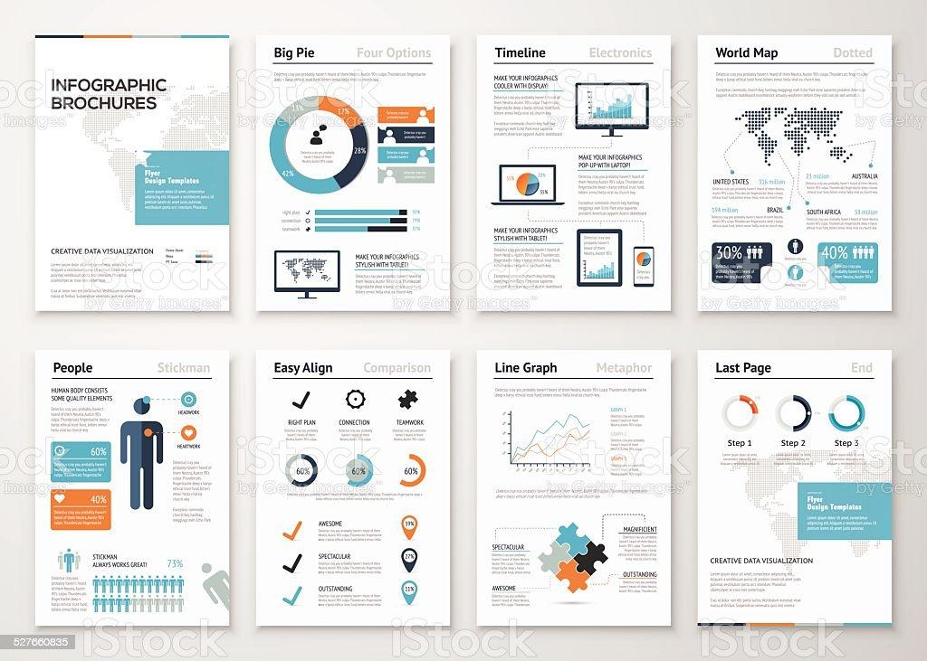 Infographic brochure elements for business data visualization vector art illustration