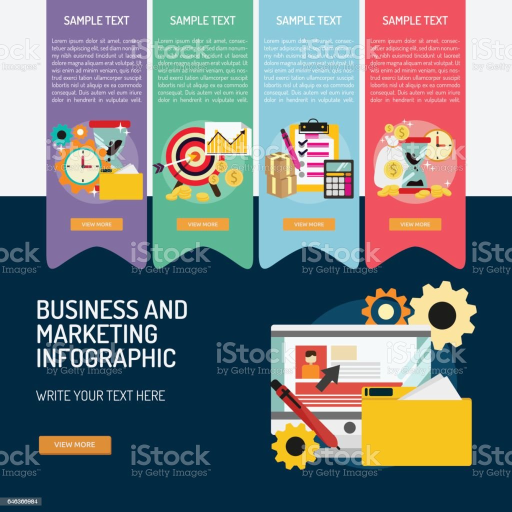 Infographic Business and Marketing vector art illustration