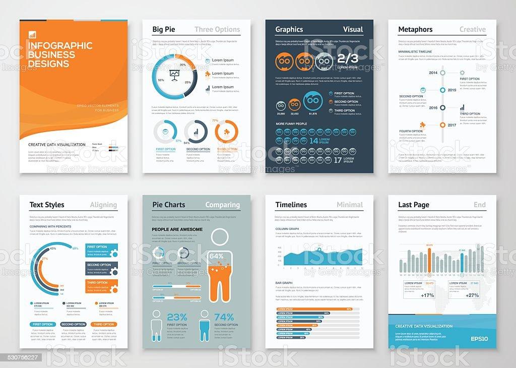 Infographic business elements and vector design illustrations vector art illustration