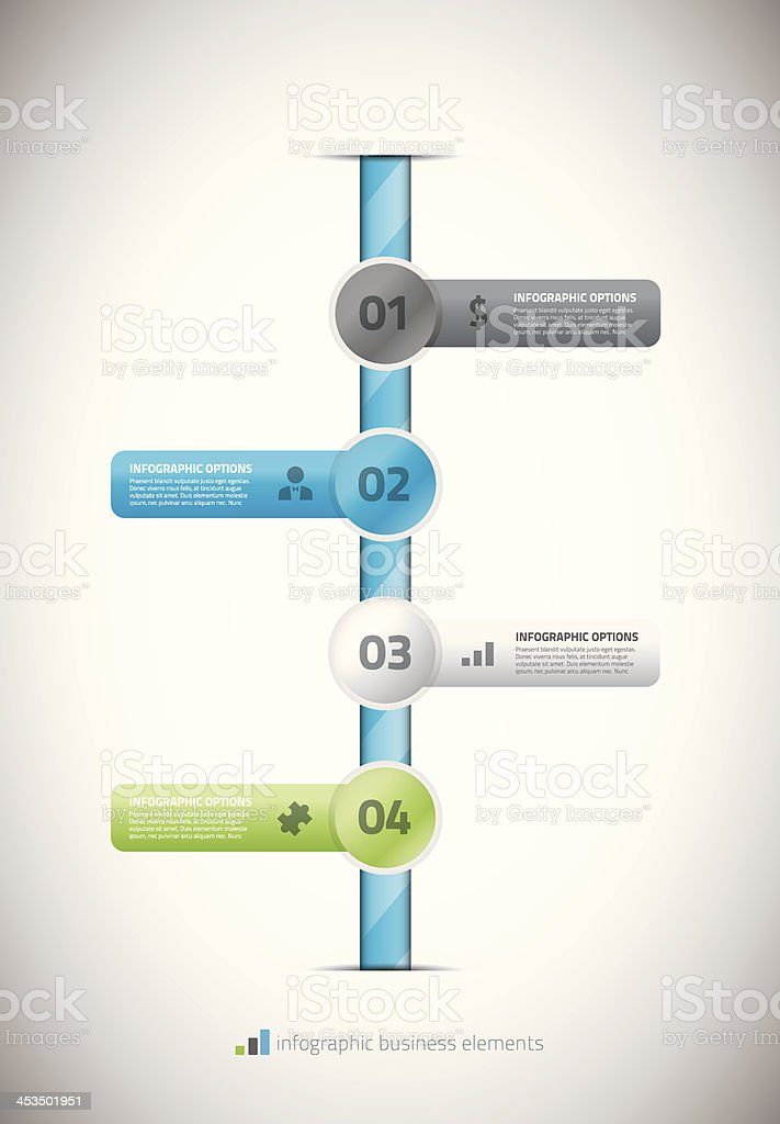 Infographic business timeline template vector illustration vector art illustration