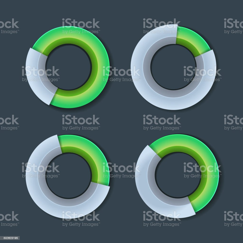 Infographic Chart Ring Diagram Set. Vector royalty-free stock vector art