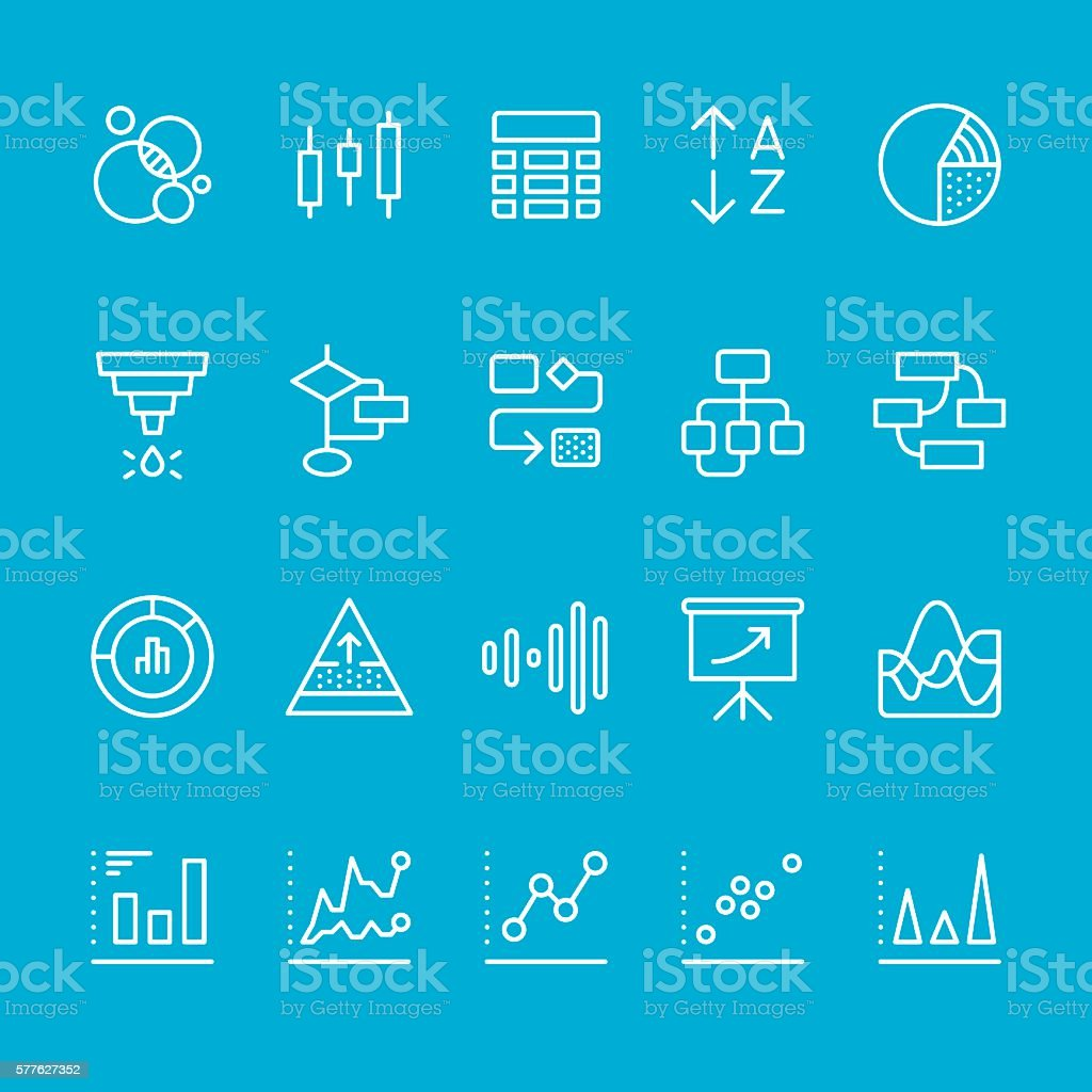 Infographic & Chart Types icons vector art illustration