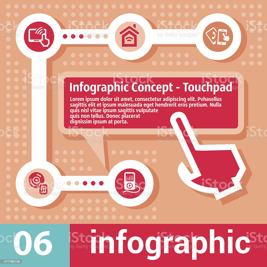 infographic concept touchpad royalty-free stock vector art